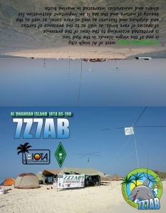 7Z7AB QSL FRONT