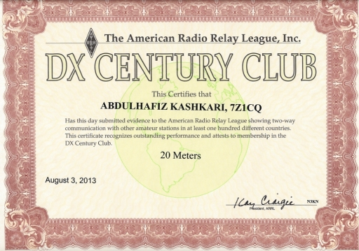 20m dxcc