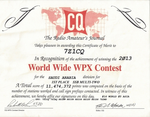 2013 CQ WPX