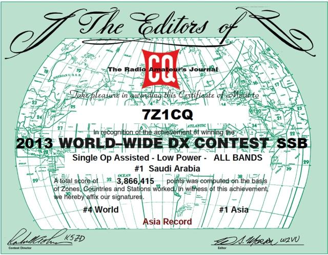 CQ WW 2013
